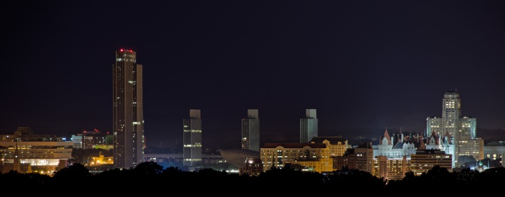 Albany Skyline Night