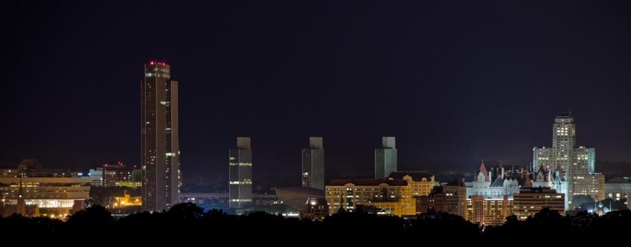 Albany Skyline Night