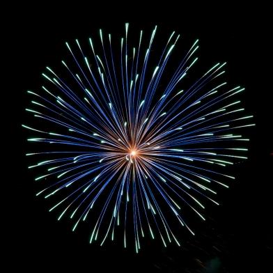 Fireworks in Blue