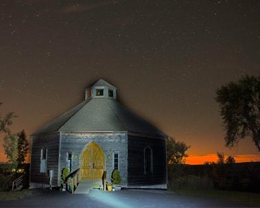 Night Sky Meetup Octagon Barn