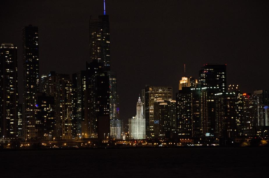 Chicago Skyline Wrigley